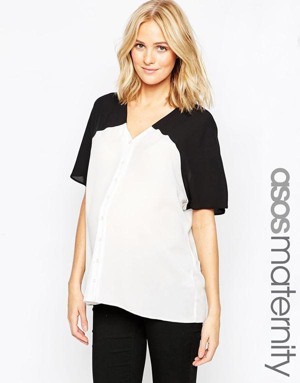 Блузки и рубашки для беременных 2015-2016 (10)