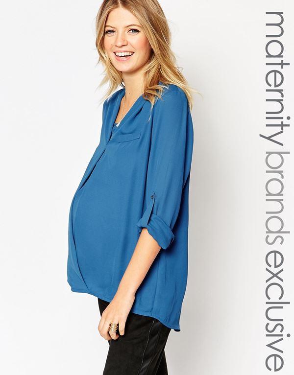 Блузки и рубашки для беременных 2015-2016 (4)