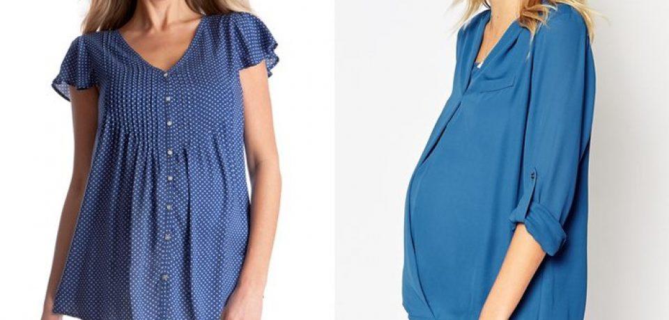 Блузки и рубашки для беременных 2015-2016