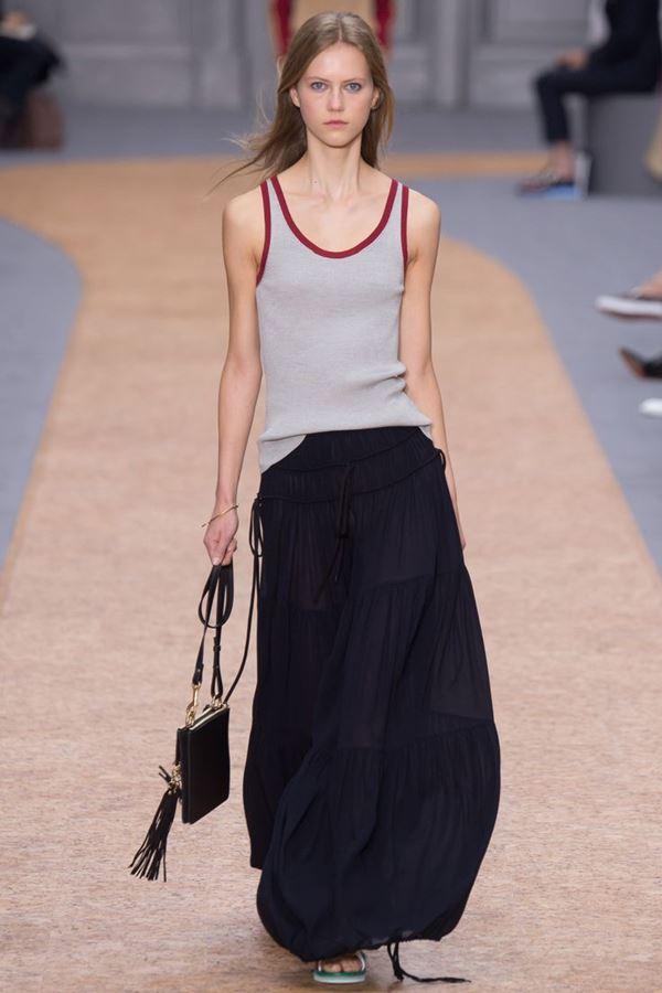 Длинные юбки весна-лето 2016  Chloé