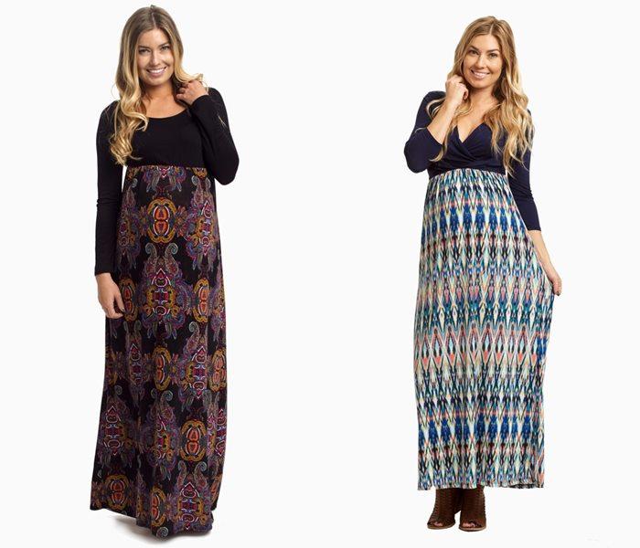 Длинные платья для беременных 2015-2016 - фото (2)
