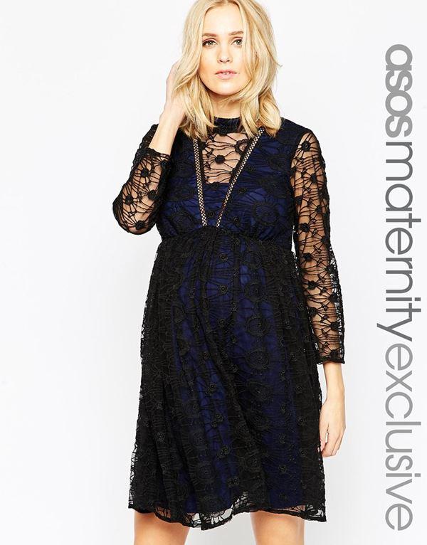 Коктейльные платья для беременных 2015-2016 (10)