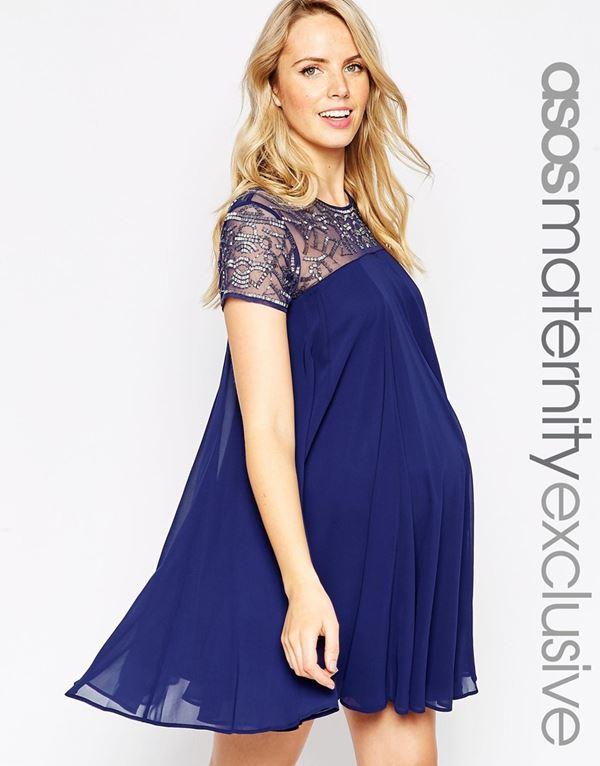 Коктейльные платья для беременных 2015-2016 (15)