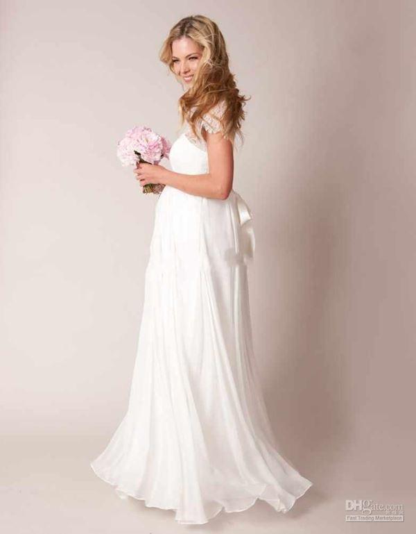 Свадебные платья для беременных 2015-2016 фото (10)
