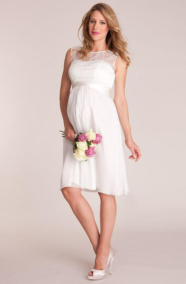 Свадебные платья для беременных 2015-2016 фото (12)