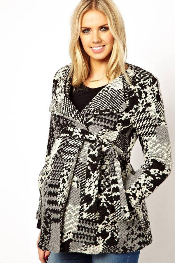 Вязаные пальто для беременных 5