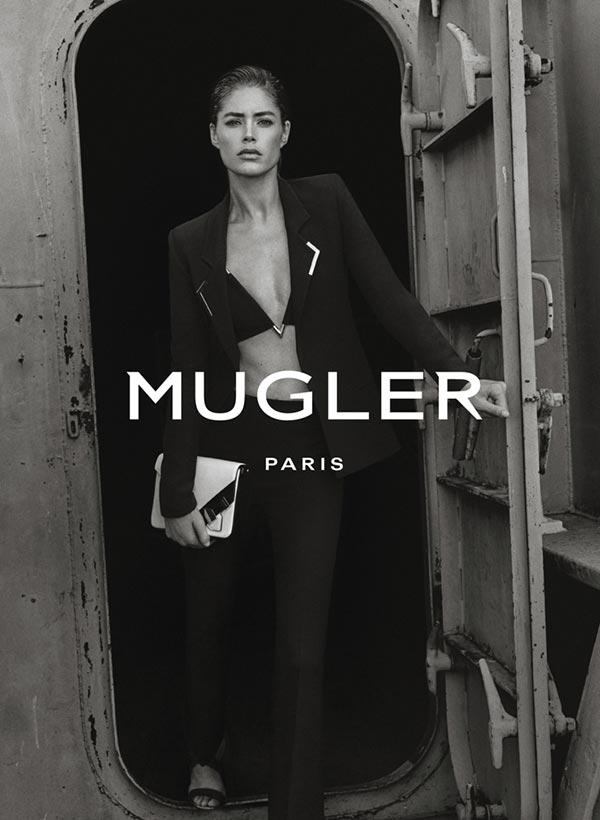 Даутцен Крез в рекламной кампании Mugler весна-2016 (1)