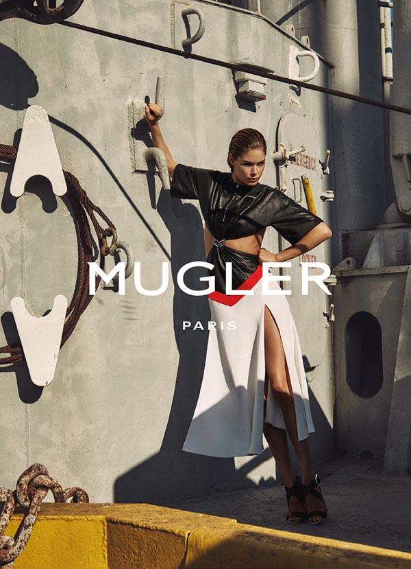 Даутцен Крез в рекламной кампании Mugler весна-2016 (2)