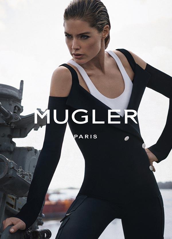 Даутцен Крез в рекламной кампании Mugler весна-2016 (3)