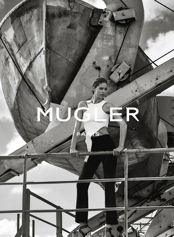 Даутцен Крез в рекламной кампании Mugler весна-2016 (4)