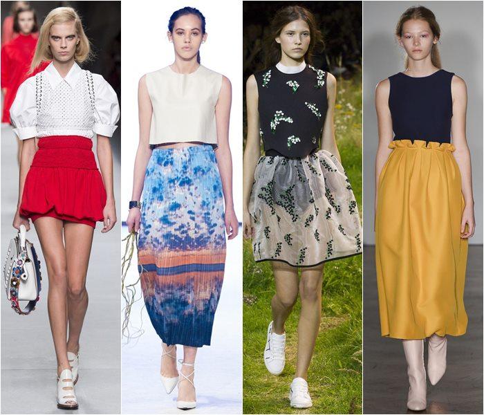 Модные юбки весна-лето 2016 - фото   (12)