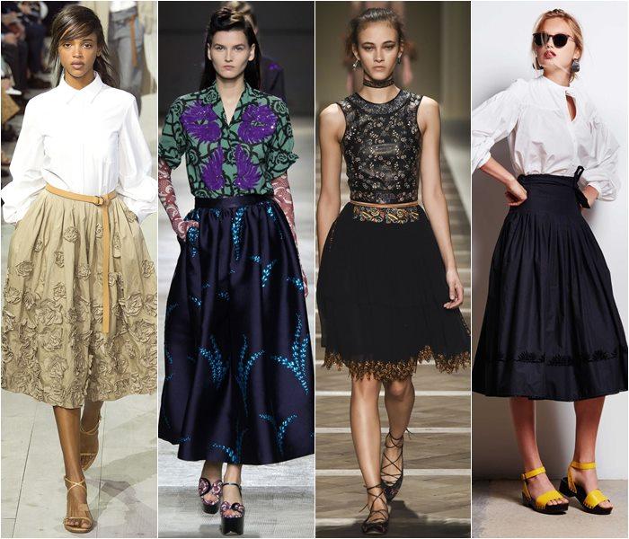 Модные юбки весна-лето 2016 - фото   (14)