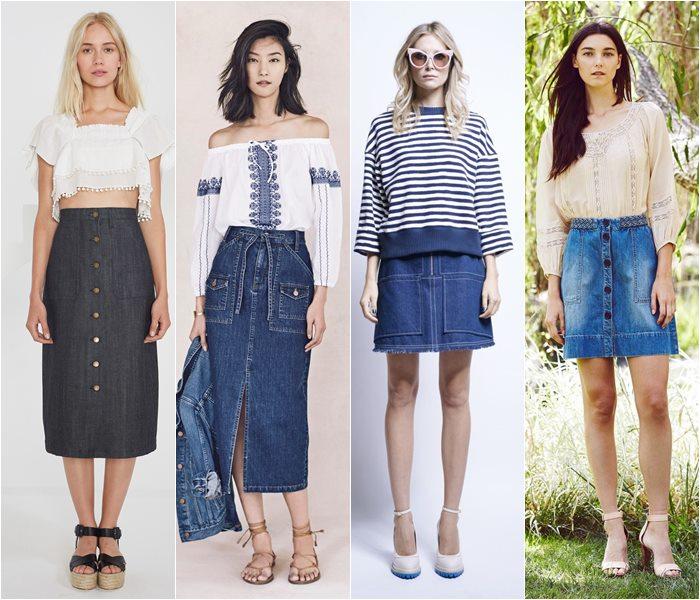 Модные юбки весна-лето 2016 - фото   (19)