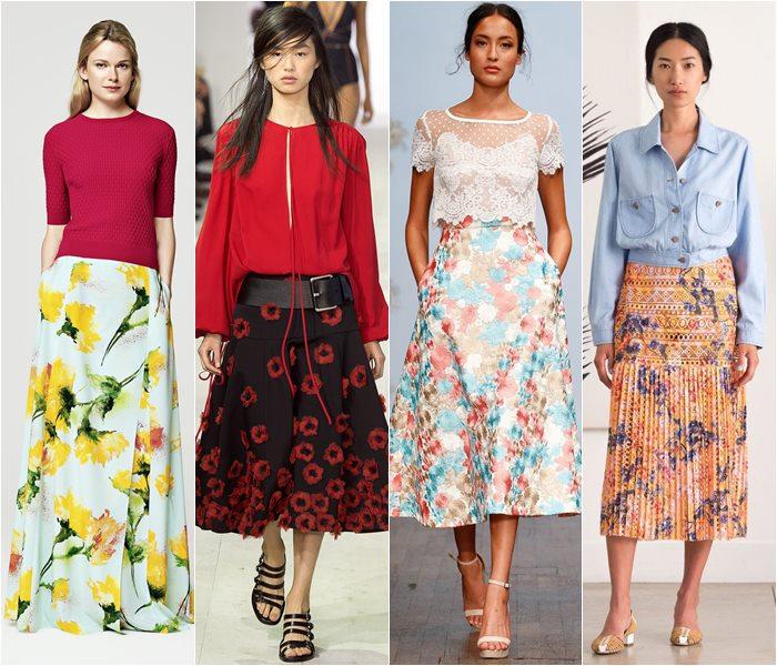 Модные юбки весна-лето 2016 - фото   (21)