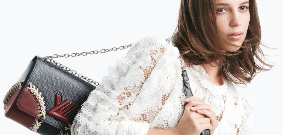 Алисия Викандер в рекламной кампании сумок Louis Vuitton «The Twist»