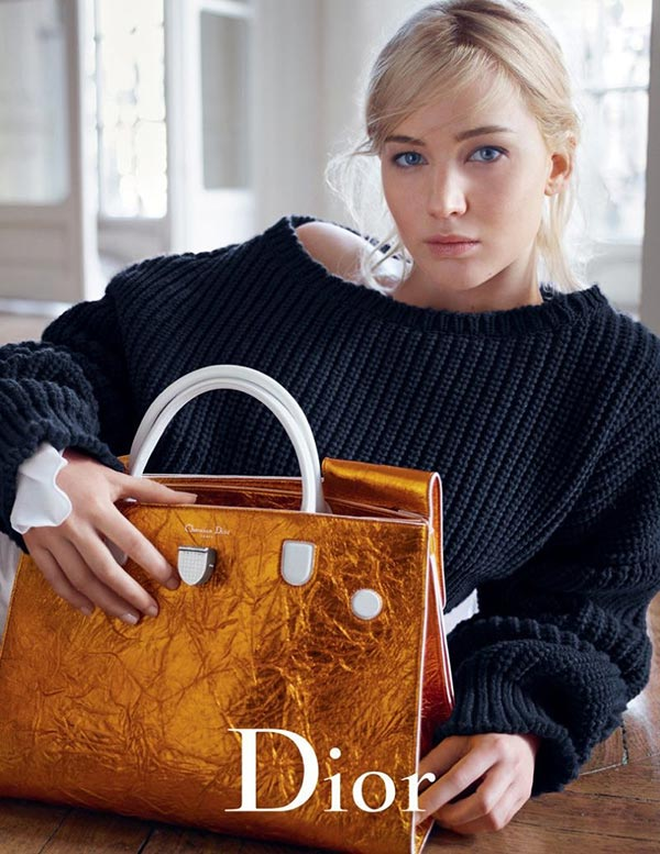 Дженнифер Лоуренс реклама сумок Dior весна-2016 (1)