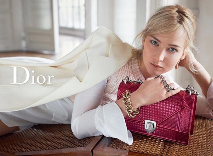 Дженнифер Лоуренс реклама сумок Dior весна-2016 (2)