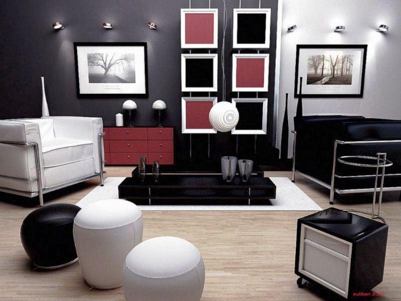 Дизайн интерьера в темных тонах фото 1