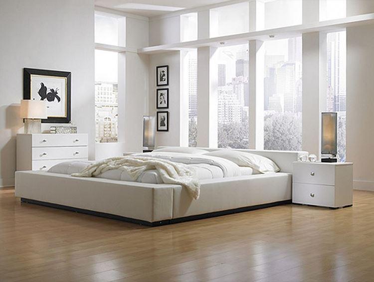 Белый цвет в интерьере спальни фото (1)
