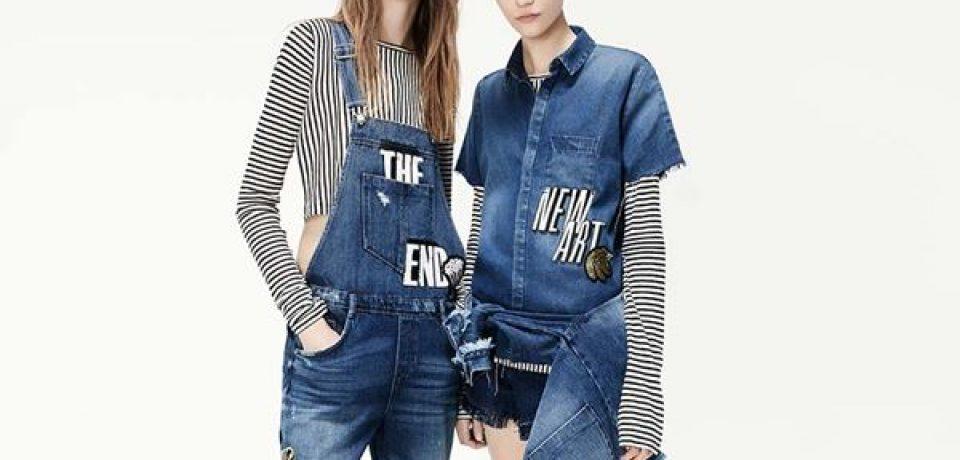 Лукбук первой части джинсовой коллекции Zara /i am denim весна-2016