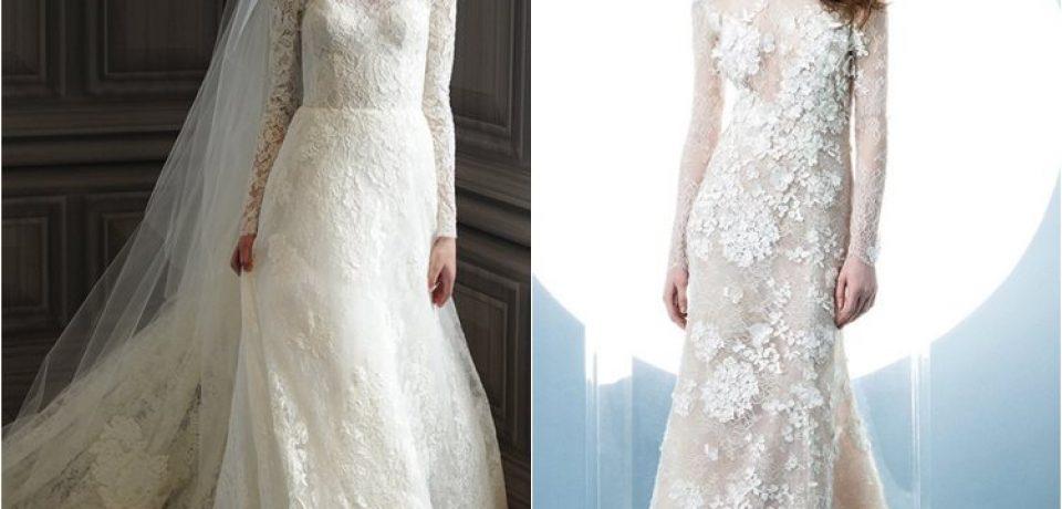 Кружевные свадебные платья 2016 (30 фото)