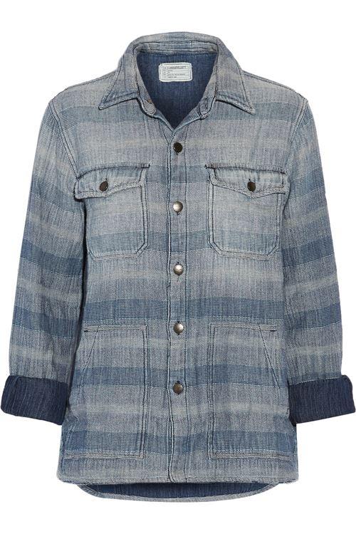 Женские джинсовые рубашки 2016 Current Elliot