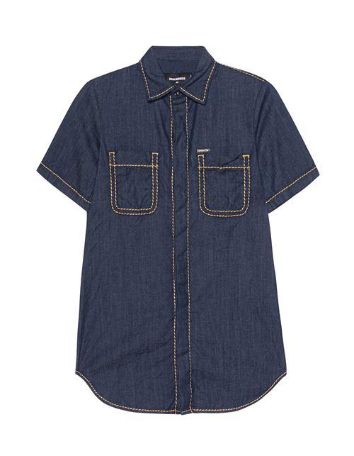 Женские джинсовые рубашки 2016 Dsquared