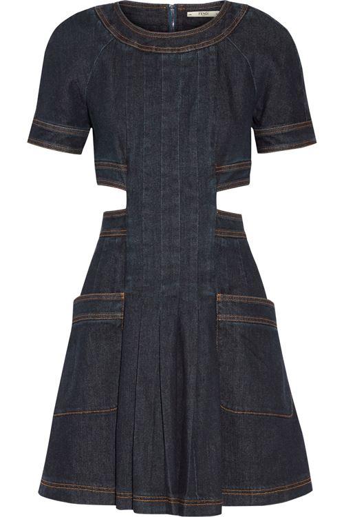Джинсовое платье Fendi