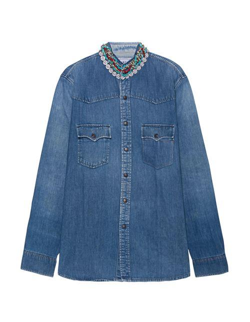 Женские джинсовые рубашки 2016 Forte Couture