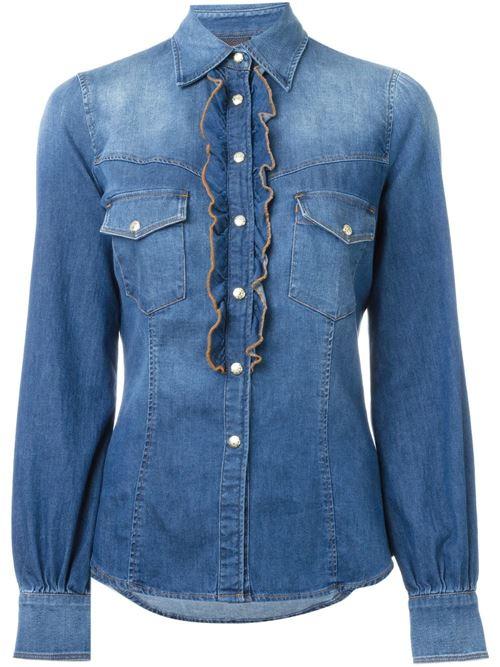 Женские джинсовые рубашки 2016 Just Cavalli