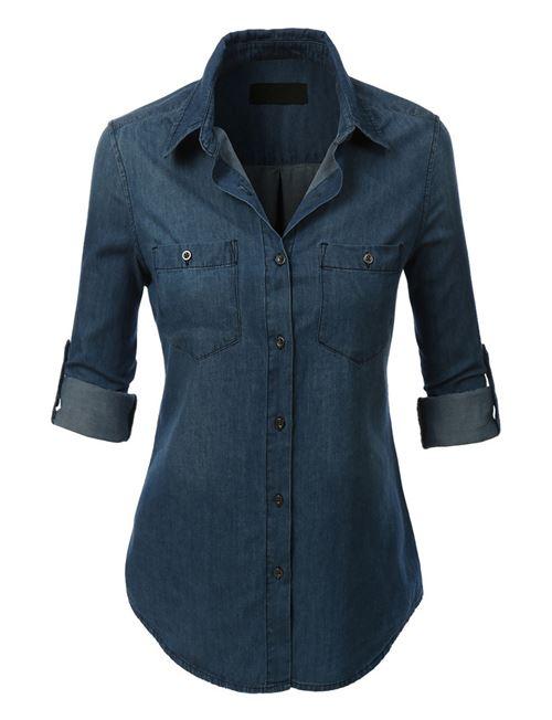 Женские джинсовые рубашки 2016 Les3No