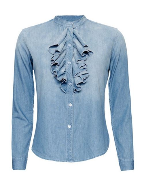 Женские джинсовые рубашки 2016 NSF