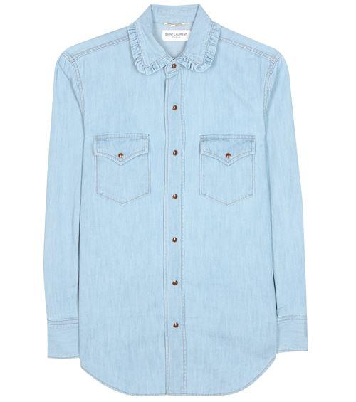 Женские джинсовые рубашки 2016 Saint Laurent