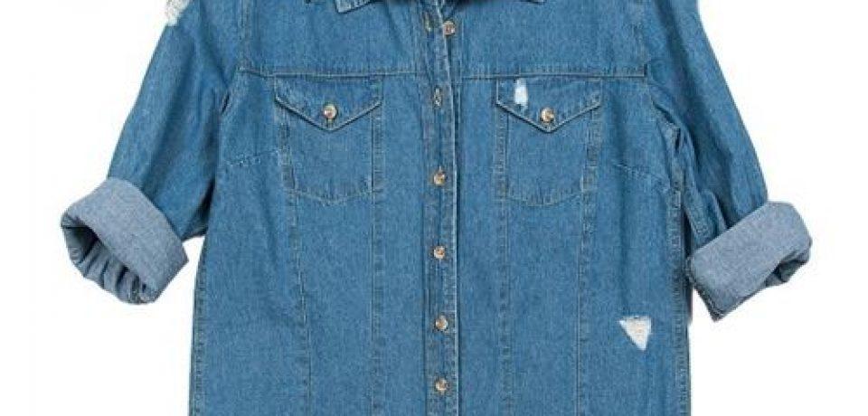 Женские джинсовые рубашки 2016 (20 фото новинок)