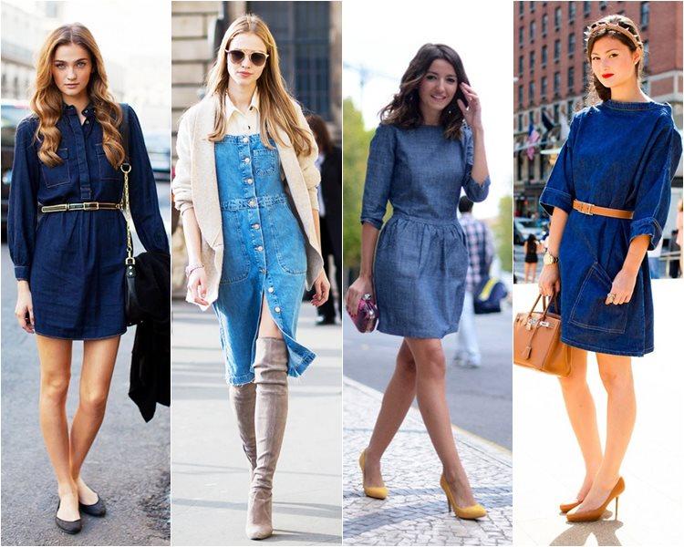 как носить джинсовые платья (1)