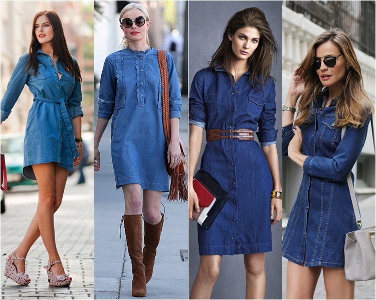 как носить джинсовые платья (2)