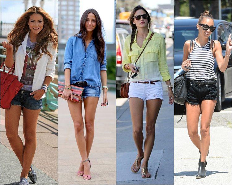 как носить джинсовые шорты 1