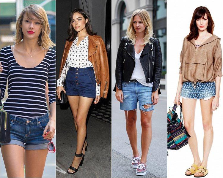 как носить джинсовые шорты 2