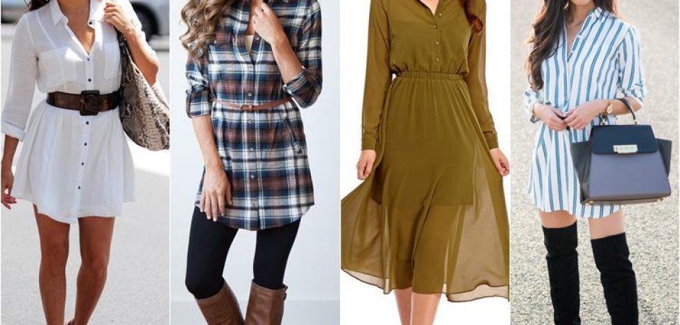 Модные платья-рубашки 2016 (25 фото новинок)