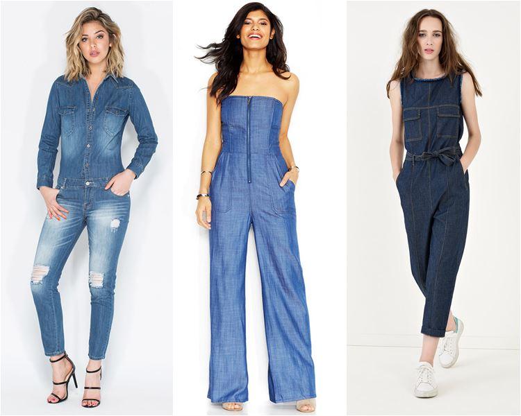 модные джинсовые комбинезоны (3)
