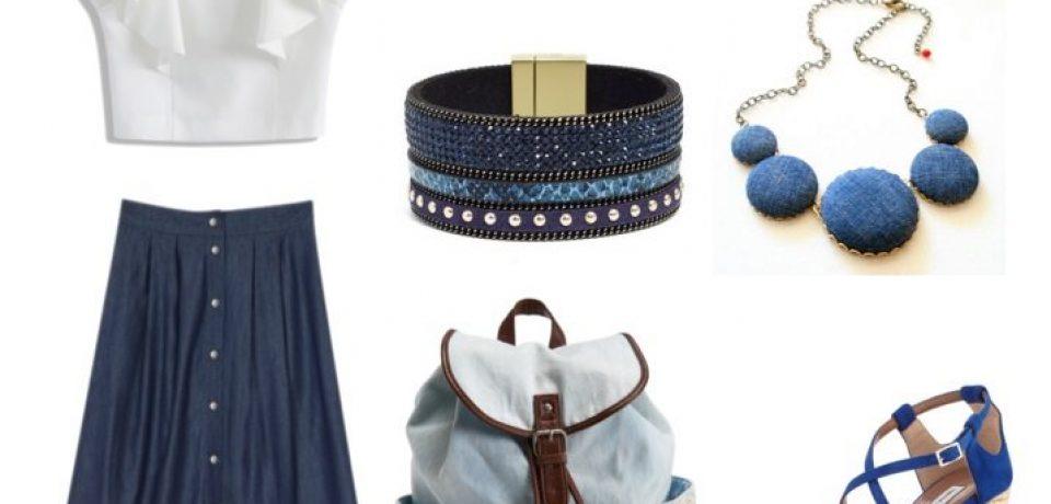 С чем носить длинную джинсовую юбку: 10 модных образов