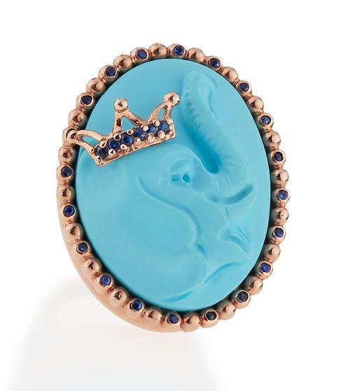 кольцо с сапфирами Amedeo