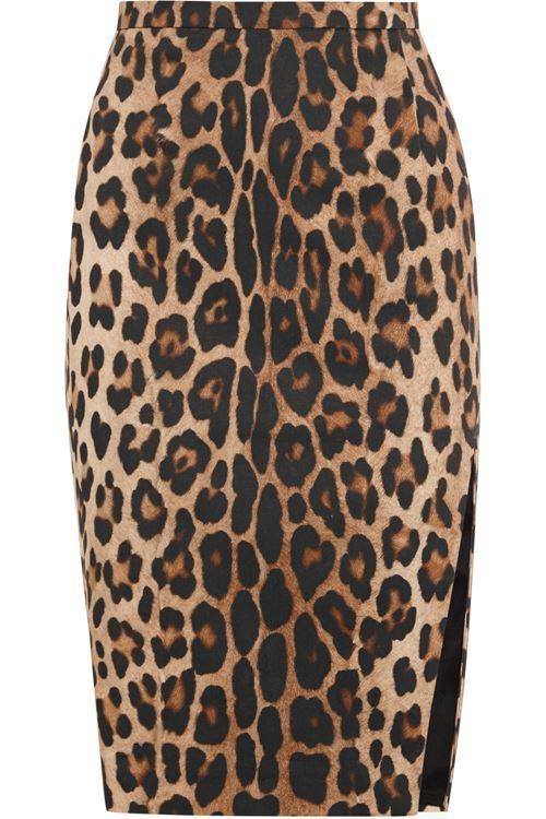 леопардовая юбка-карандаш 2016