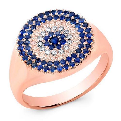 кольцо с сапфирами Anne Sisteron