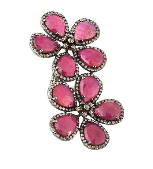 кольца с цветами Bavna