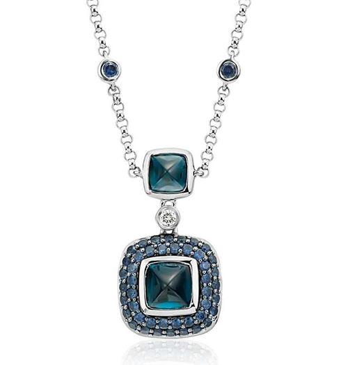 кулон с синими камнями Blue Nile