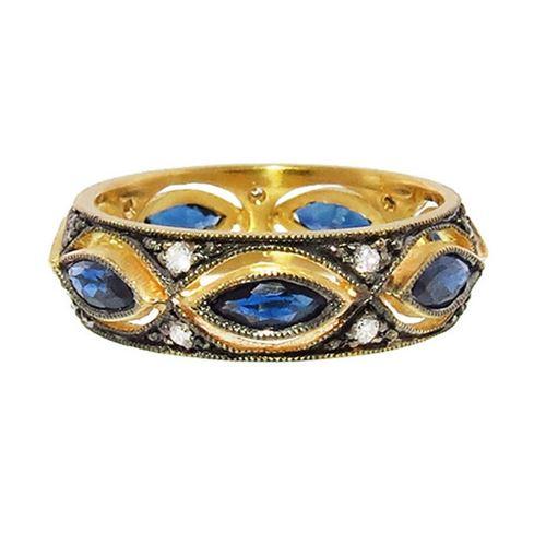 кольцо с сапфиром Cathy Waterman