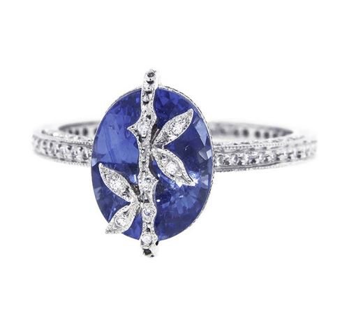 кольцо с крупным сапфиром Cathy Waterman