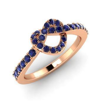 золотое кольцо с сапфирами Diamondere