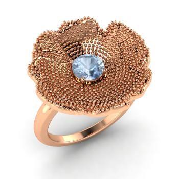 кольца с цветами Diamondere